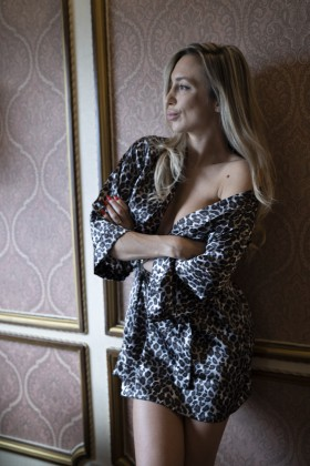 Dressing gown in Leopard Print
