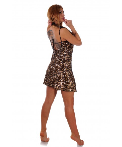 Nightgown in leopard print- Limited Edition