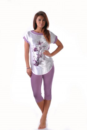 Purple women's pajamas