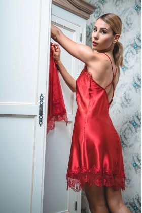 NEW ! Red Peony Nightie