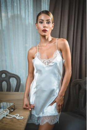NEW ! White Peony Nightie